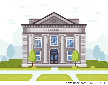 Bank or goverment building. Architecture business house 67193461