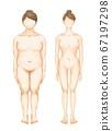 裸體裸體全身女性美 67197298