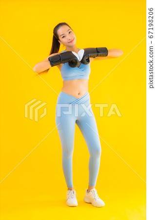 Portrait beautiful young asian woman wear sportwear 67198206