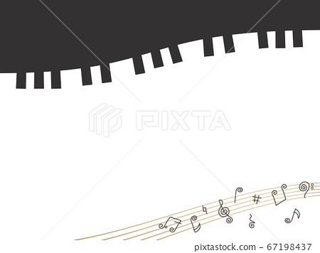 Grand piano and stave frame 67198437