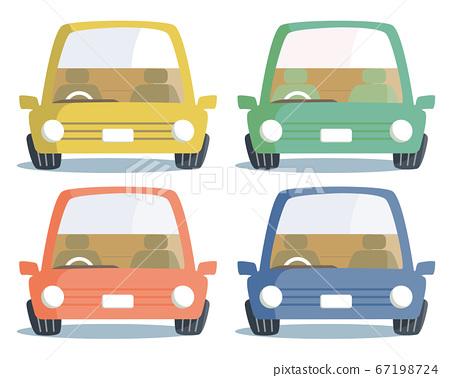 정면을 향한 자동차의 색상 67198724