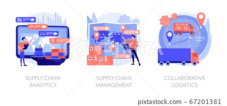 Logistics operations control vector concept metaphors. 67201381