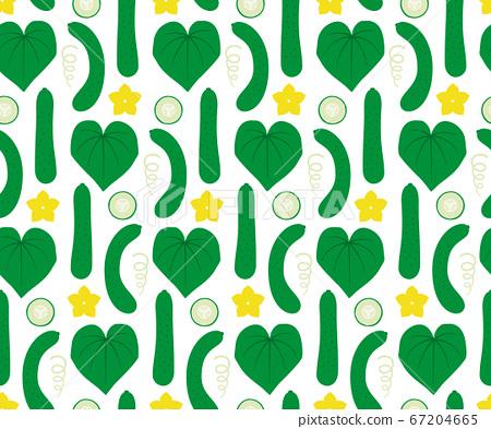 黃瓜無縫模式/手繪風格 67204665