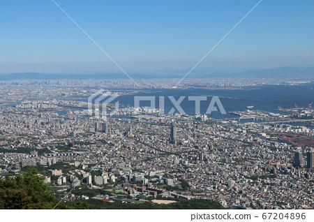 마야에서 오사카 전망 67204896