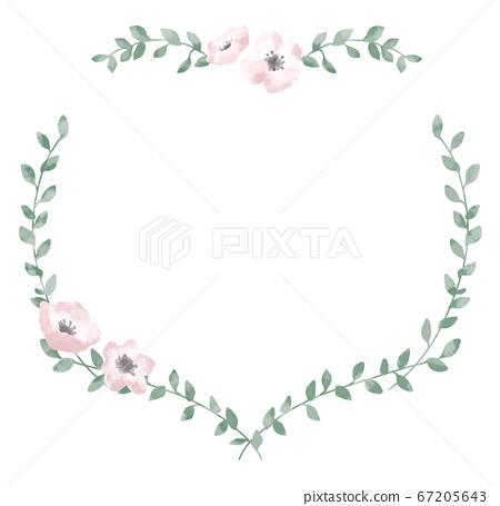 Floral heart frame with a gentle touch 67205643