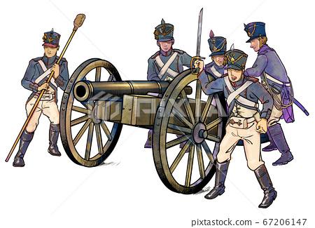 拿破崙時代的加農炮 67206147