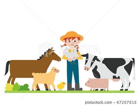 牧場動物 67207818