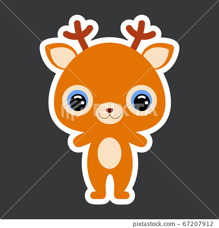 Children's sticker of cute little deer.  67207912