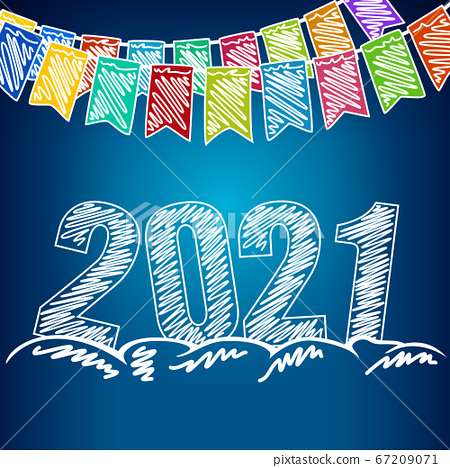 happy new year 2021 background stock illustration 67209071 pixta pixta