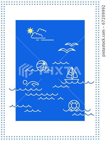 여름 벡터 일러스트 - 바다 67209992
