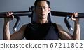 체육관에서 훈련하는 남자 67211802