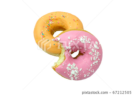 Doughnuts isolated on white background. 67212505