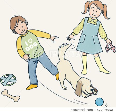 강아지와 놀기 67219338