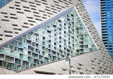 Background texture a modern building with windows 67225695