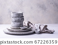 Handmade handcrafted concrete plates and bowls 67226359