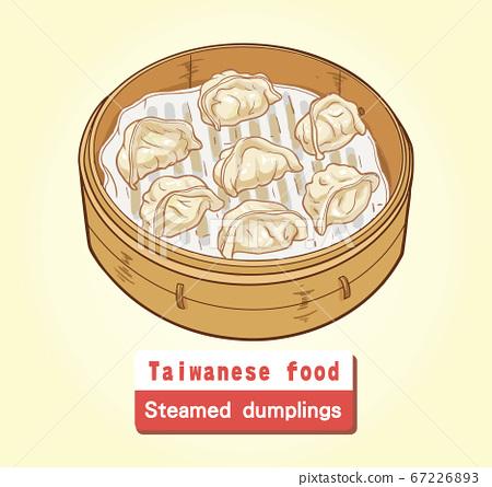 向量台灣美食蒸餃 67226893