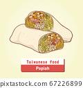 向量台灣美食潤餅 67226899