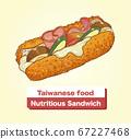 向量台灣美食營養三明治 67227468
