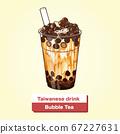 向量台灣美食珍珠奶茶 67227631