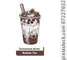 向量台灣美食珍珠奶茶 67227632