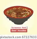 向量台灣美食牛肉麵 67227633