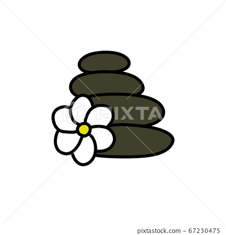 stones for massage doodle icon, vector color 67230475