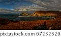 Atlantic coast with cliffs in sunset light 67232329