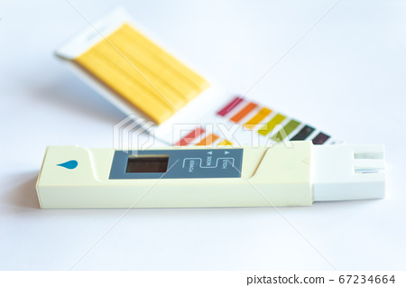 Litmus pH test with color scale and digital 67234664