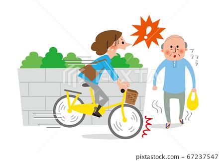 자전거 사고 고령자와 충돌 67237547