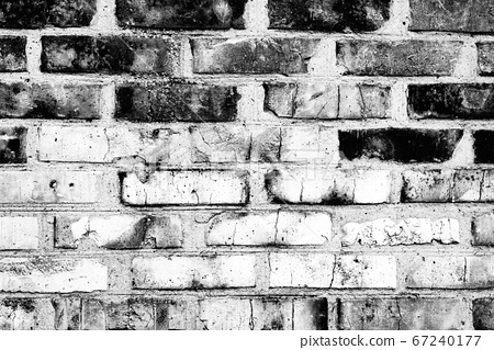 Texture of a brick wall with cracks and scratches 67240177