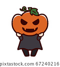 Halloween with a Jack O'lantern costume 67240216