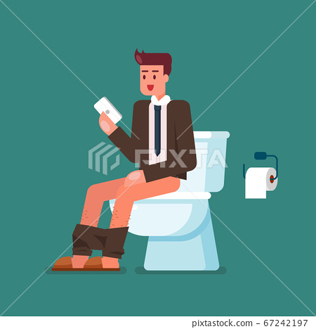 Businessman using smartphone when sitting on 67242197