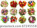 Flower bouquet Birthday Wedding Holidays Gift card 67245558