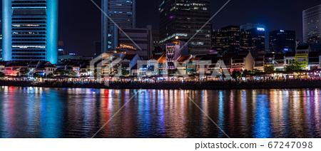 新加坡小船关键夜视图 67247098