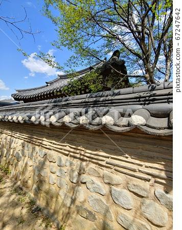 韓國語含義,韓國風景,韓屋,韓國形象,韓屋風景,韓屋形象,瓷磚房,石牆,罐子,江都,傳統建築 67247642