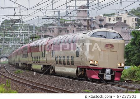 Tokaido Main Line Manazuru JR West Series 285 L2 formation + L3 formation (Izumo) Sunrise Express 67257503