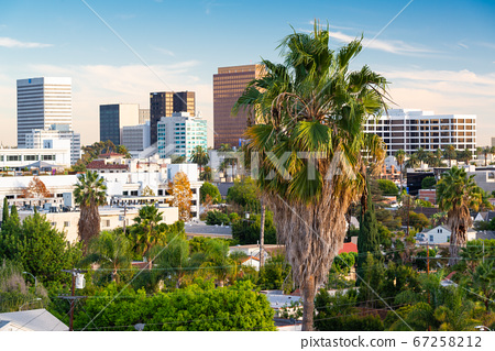 Beverly Hills, California, USA Rooftop Skyline 67258212