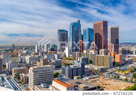 Los Angeles, California, USA Downtown Aerial Cityscape 67258229