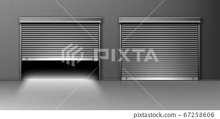 Garage doors, hangar entrance with roller shutters 67258606