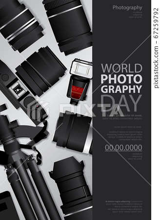 Poster Photography Day Design Template Vector Illustration 67259792