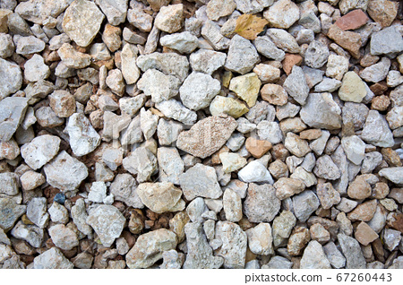 Background of small rocks gravel for construction roads 67260443