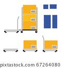 搬運行李的運輸機器人 67264080