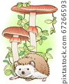 刺猬和红蘑菇 67266593