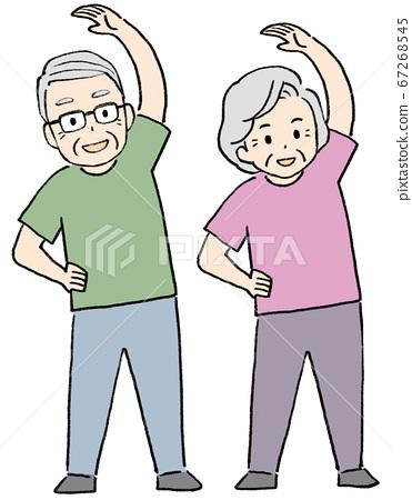 體操高級運動,伸展運動,健康 67268545