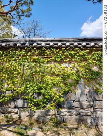 Korean meaning, Korean landscape, Hanok, Korean image, Hanok landscape, Hanok image, tile house, stone wall, jar, Jangdok, traditional architecture 67269133