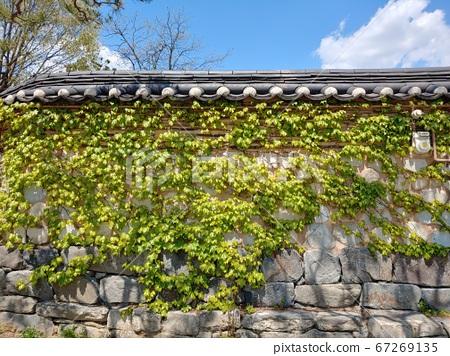韓國語含義,韓國風景,韓屋,韓國形象,韓屋風景,韓屋形象,瓷磚房,石牆,罐子,江都,傳統建築 67269135