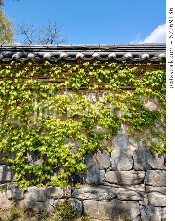 Korean meaning, Korean landscape, Hanok, Korean image, Hanok landscape, Hanok image, tile house, stone wall, jar, Jangdok, traditional architecture 67269136