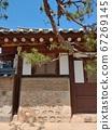 Korean meaning, Korean landscape, Hanok, Korean image, Hanok landscape, Hanok image, tile house, stone wall, jar, Jangdok, traditional architecture 67269145