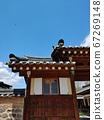 Korean meaning, Korean landscape, Hanok, Korean image, Hanok landscape, Hanok image, tile house, stone wall, jar, Jangdok, traditional architecture 67269148