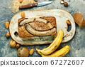Homemade banana bread. 67272607
